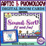 BOOM CARDS Speech Therapy Sound Sort L & W Articulation - Teletherapy