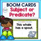 BOOM CARDS ELA | GRAMMAR Activities | Subject & Predicate