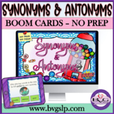 BOOM CARDS Synonyms and Antonyms Evergreen Edition NO PRINT - Teletherapy