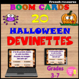 BOOM CARDS (TM) - 20 Halloween DEVINETTES (French) Vocabul