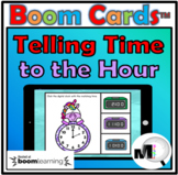 Telling Time to the Hour - Boom Cards - Free Distance Learning