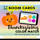BOOM CARDS™ Thanksgiving Color Matching
