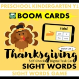 BOOM CARDS™ Thanksgiving SIGHT WORDS - Dolch List 1 Distan