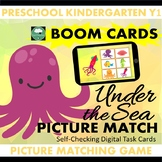 BOOM CARDS™ Under The Sea Picture Matching