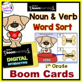 BOOM CARDS NOUN and VERB SORT for 1st Grade