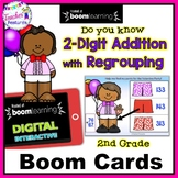 BOOM CARDS Valentine's Day | 2-DIGIT ADDITION WITH REGROUPING