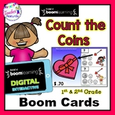 BOOM CARDS Valentine's Day | Counting Coins | Money