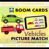 BOOM CARDS™ Vehicles Picture Matching