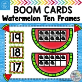 BOOM CARDS Watermelon Ten Frames - FREE