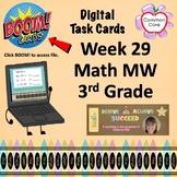 BOOM CARDS - Week 29 Spiral Review Math Morning Work - 3rd Grade