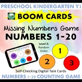 BOOM CARDS™ What Number is Missing 1-20 COUNTING GAME