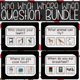 BOOM CARDS Who What Where When Question BUNDLE
