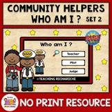 BOOM CARDS Who am I Mini Games Community Helper Distance L
