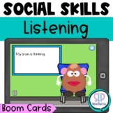 BOOM CARDS Whole Body Listening Social Skills Speech Therapy