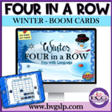 BOOM CARDS Winter Four in a Row Language Unit - Teletherapy