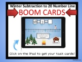 BOOM CARDS Winter Subtraction on a Number Line within 20