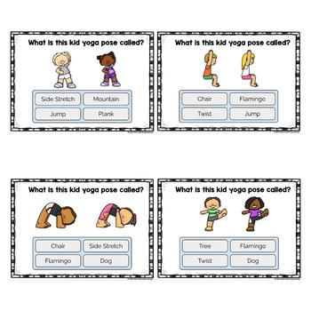 Boom Cards Yoga For Kids Activity Cards Multiple Choice 2 Decks