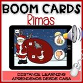 BOOM CARDS NAVIDAD:Juego de rimas -Christmas Spanish Rhyming Distance Learning