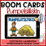 BOOM CARDS en español:RUMPELSTILSKIN Comprensión de lectura- Distance Learning