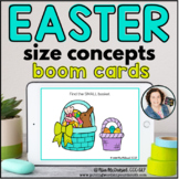 Size Concepts for Easter | Distance Learning BOOM CARDS™
