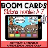 BOOM CARDS lectura sílabas iniciales A-Z en español- Spanish Distance Learning