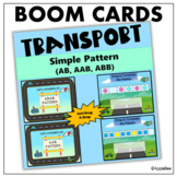 BOOM CARDS_Simple Pattern (AB, AAB, ABB) - Transport Theme
