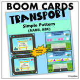 BOOM CARDS_Simple Pattern (ABC, AABB) - Transport Theme