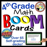 Math BOOM Cards Growing Bundle - Over 50 Sets of 4th Grade Math BOOM Cards!