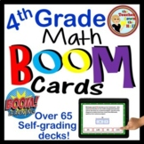 Math BOOM Cards Bundle - Over 50 Sets of 4th Grade Math BOOM Cards!