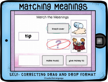 BOOM Cards for Homonyms Learning Multiple Meanings with Pictures Set 4