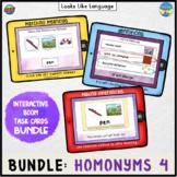 BOOM Cards BUNDLE | Speech Teletherapy | Homonyms 4 | Mult