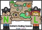 BOOM Card: Initial and Ending Sounds - Pirates {{BUNDLE}}
