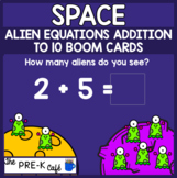 BOOM Card Space Alien Addition Equations to 10