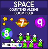 BOOM Card Space Counting Aliens 1-10
