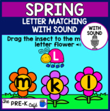BOOM Card Spring Uppercase Lowercase Letter Matching WITH SOUND