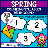 BOOM Card Spring Syllables WITH SOUND | phonological awareness