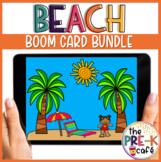 BOOM CARD BUNDLE 10 DECKS FOR $10 BEACH MATH AND LITERACY Centers