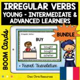 BOOM Cards : 115 Irregular Verbs + French Translation - Di