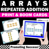 BOOM Cards Math Arrays and Repeated Addition Center Activities Digital Task Card