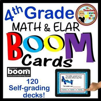BOOM Cards 4th Grade Bundle (70 decks and Growing!)