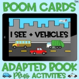 BOOM Cards™️ Adapted Book I See Vehicles Transportation Di