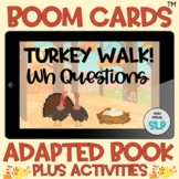 BOOM Cards™️ Adapted Book WH Questions Thanksgiving Turkey