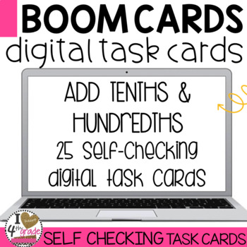 BOOM Cards Add Tenths and Hundredths