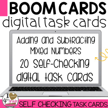 BOOM Cards Add and Subtract Mixed Numbers