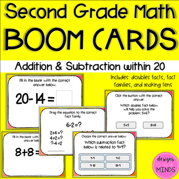 BOOM Cards- Addition and Subtraction within 20