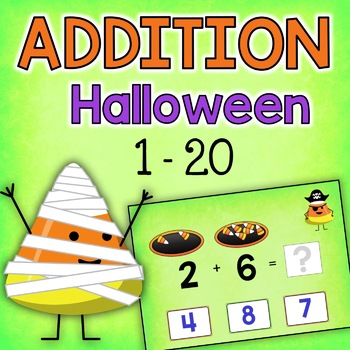 BOOM Cards: Addition to 20 Digital Task Cards (Candy Corn Theme)