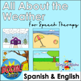 BOOM Cards | All About the Weather | for Speech Therapy English & Spanish
