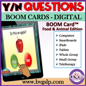BOOM Cards Answering Yes No Questions - NO PREP NO PRINT Teletherapy