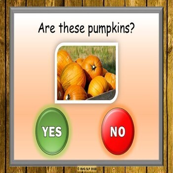 BOOM Cards Answering Yes No Questions - FALL EDITION Teletherapy