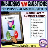 BOOM Cards Answering Yes No Questions - SUMMER EDITION Teletherapy